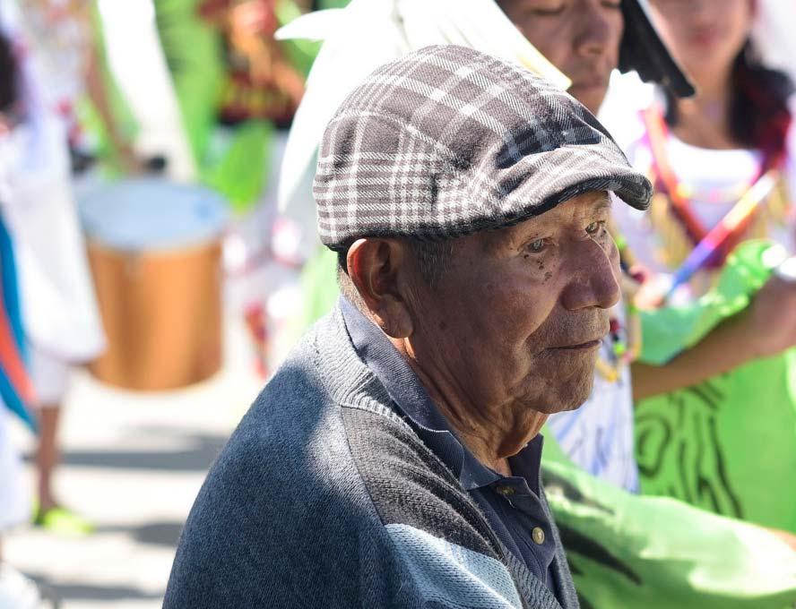 Adulto mayor del municipio de Buesaco (Nariño). Fotografía Jaime Cañizares.